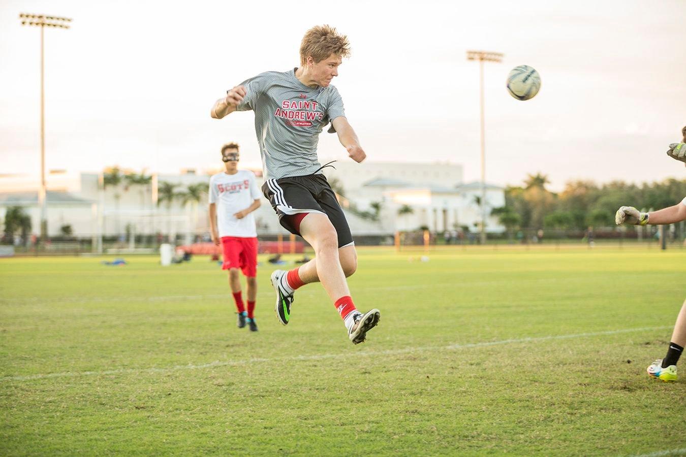 Fußballer während eines Spiels