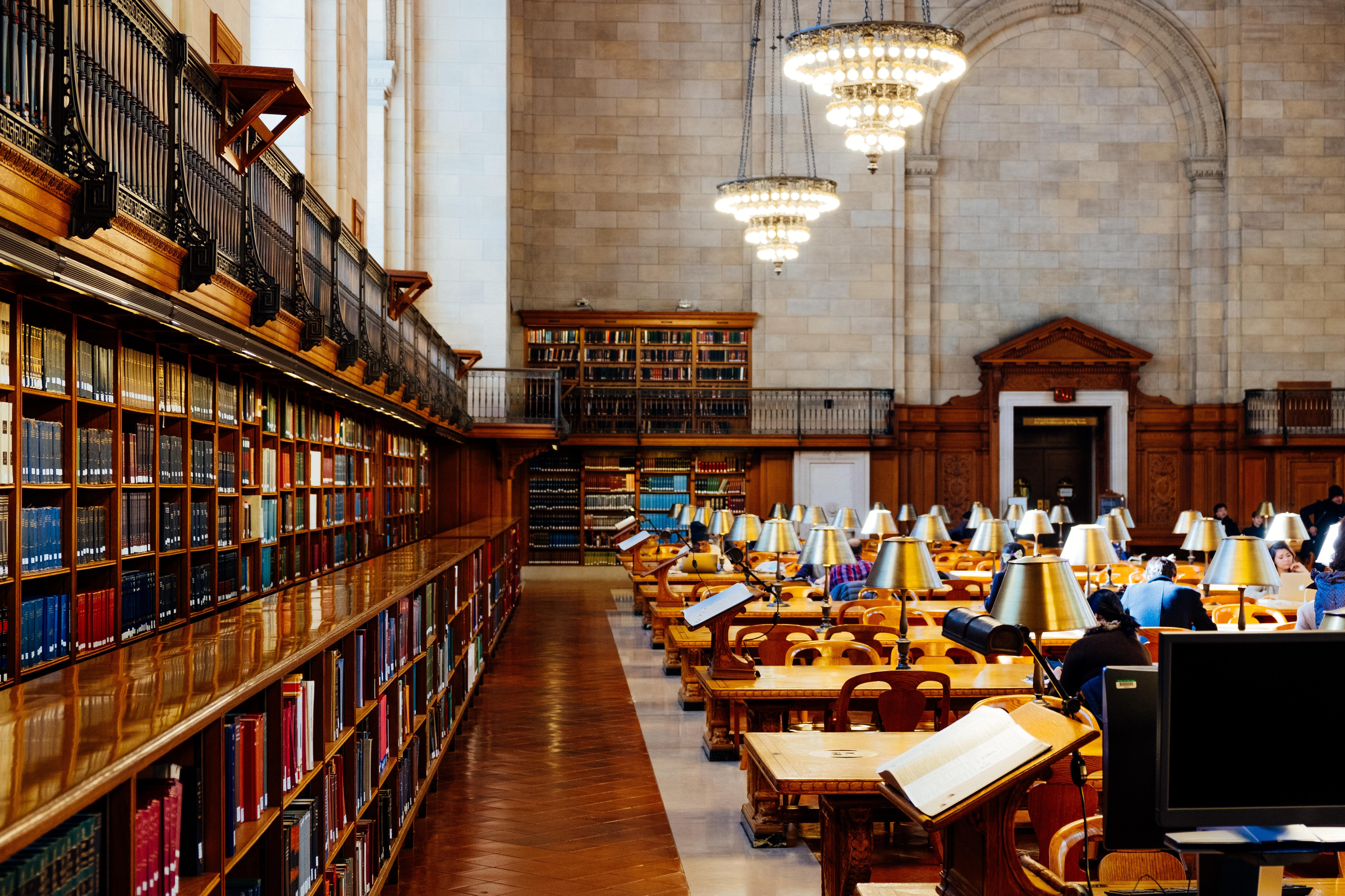 Bücherei in einem Internat